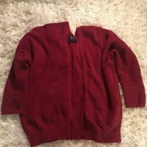 Chunky Burgundy Fall Cardigan - Forever21 - Size S